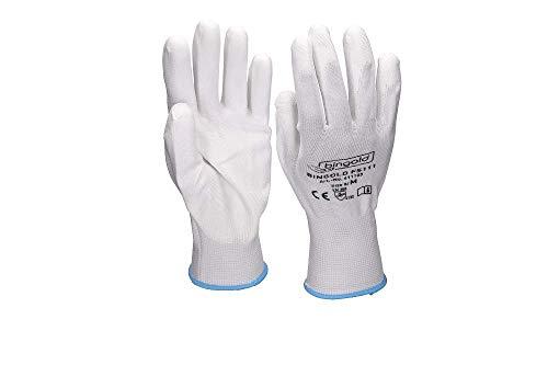 Feinstrick-Handschuhe BINGOLD, PU-beschichtet, weiß, Größe 10/ XL