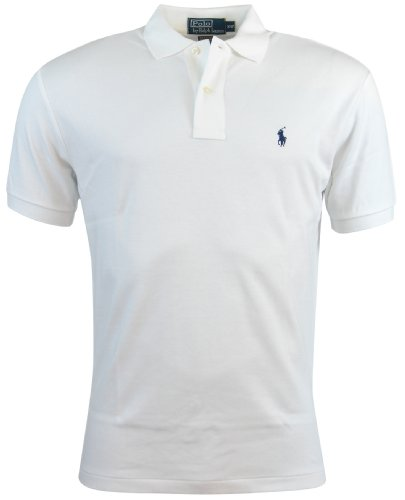 Polo Ralph Lauren Men's Classic Fit Pony Interlock Short Sleeve Polo Shirt White (X-Large)