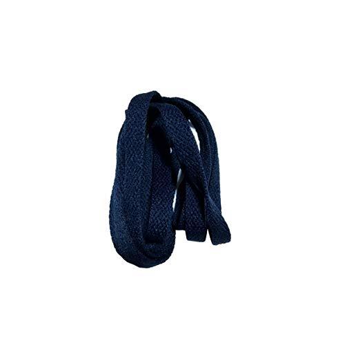 Breite Schnürsenkel 8 mm flach Schnürsenkel Schnürsenkel für Sneakers Sportschuhe 24 Farben 180cm /71Inch, 29 Nein dunkelblau, 180cm