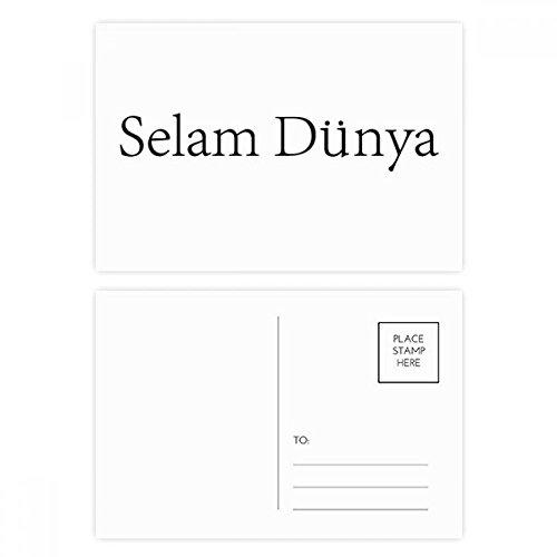 DIYthinker Hallo Welt Türkisch Postkartenset Geburtstag dankt Karte Mailing Side 20pcs 5.7 Zoll x 3.8 Zoll Mehrfarbig