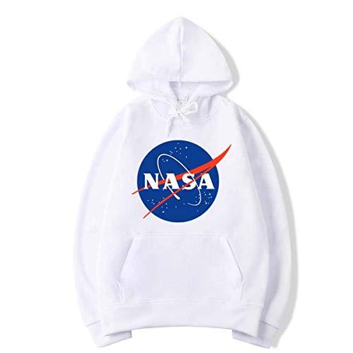 Rying NASA Pullover Space Rocket Moon Kapuzenpullover Packet Pocket NASA Hoodie Damen Herren Unisex