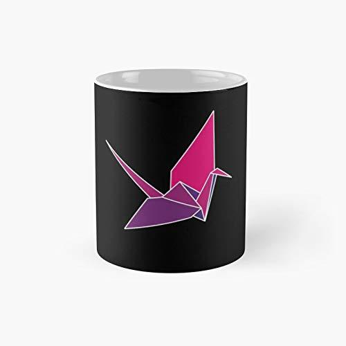 Origami Crane Red Classic Mug | Best Gift Funny Coffee Mugs 11 Oz