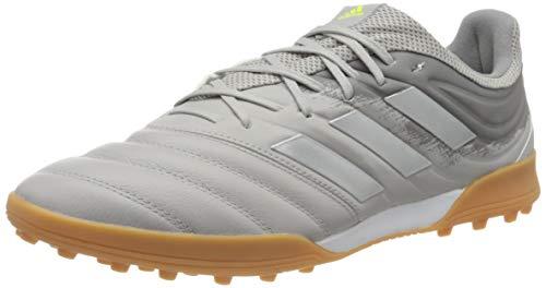 adidas Mens Copa 20.3 TF Football Shoe, Grey/Silver Metallic/Solar Yellow, 46 EU