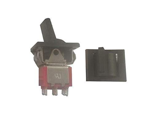 Interruptor basculante de 6 pies, 2 engranajes sin reinicio, interruptor de alimentación