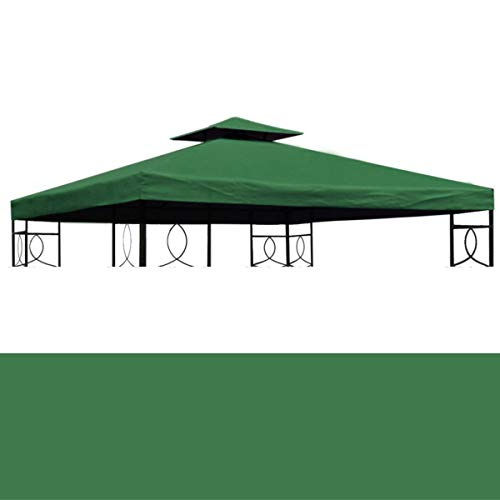bonsport Pavillon Ersatzdach 3x3 m wasserdicht - Dach Ersatzbezug mit Kaminabzug, grün
