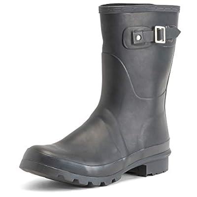 Mens Original Short Plain Rubber Fishing Ankle High Wellington Boots