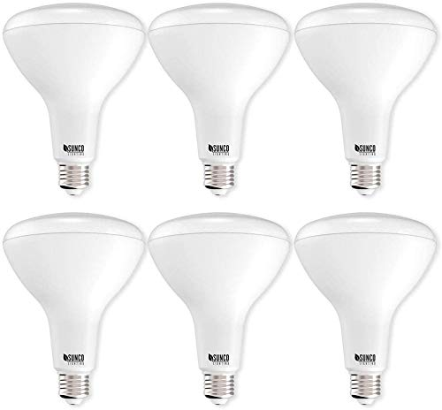 Sunco Lighting 6 Pack BR40 LED Bulb, 17W=100W, Dimmable, 5000K Daylight, E26 Base, Indoor Flood Light for Cans - UL & Energy Star