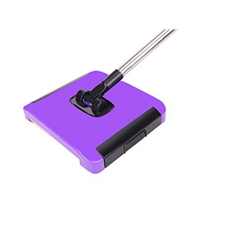 R&Xrenxia Haushaltshand-Push-Teppich-Fegen Haar-Fussel-Spinnen-Kehrmaschinen-Bürsten-Zauber-Besen-Maschine ohne Strom