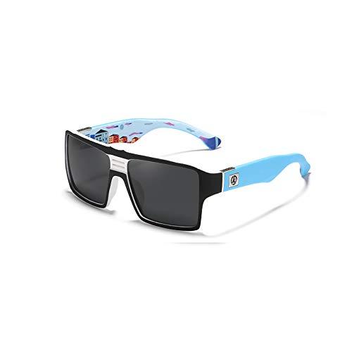 LKHF Gafas de Sol rectangulares para Mujeres y Hombres, Gafas de Sol Vintage, conducción en la Playa al Aire Libre, protección UV, Gafas de Sol polarizadas de Moda y Atractivas