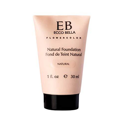 Ecco Bella Liquid Foundation Makeup - Natural, Vegan, Gluten and Paraben-Free Makeup for Flawless Coverage, Natural, 1 oz.