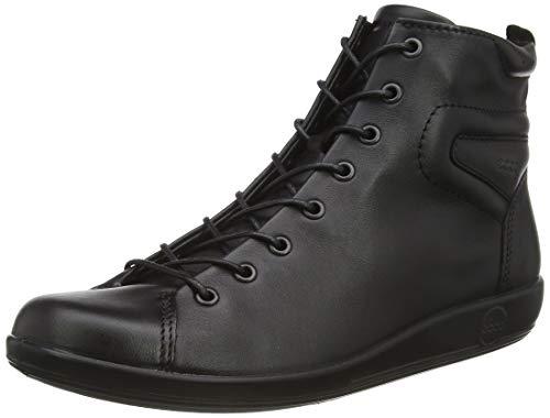 Ecco ECCO SOFT 2.0, Damen Halbschaft Stiefel, Schwarz (BLACK WITH BLACK SOLE56723), 43 EU (9 Damen UK)