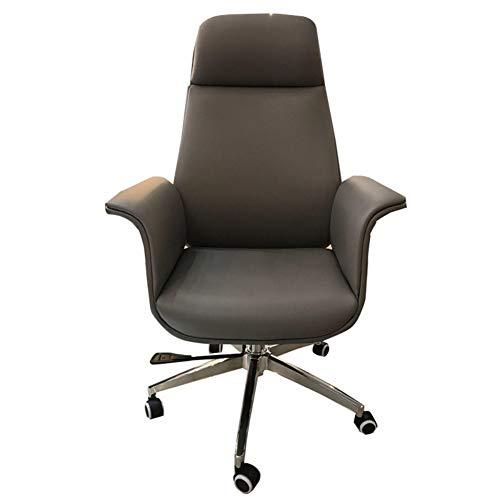 RLIRLI Modieuze draaistoel, massage, patroon, bureaustoel, kantelbaar, ergonomisch, leer, computerstoel, bureaustoel, thuis, bruin