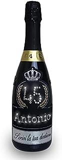 Swart - Idea regalo per compleanno - Bottiglia Tanti Auguri da 0,75L - PERSONALIZZA l'Etichetta con nome, età e dedica per...