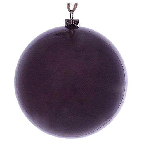 "Price comparison product image Vickerman 622155-4.75"" Burgundy Wood Grain Ball Christmas Tree Ornament (4 pack) (MC197165)"