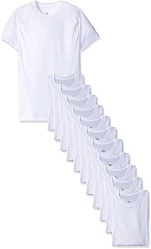 Hanes Men's 12-Pack Crew T-Shirt, White, X-Large