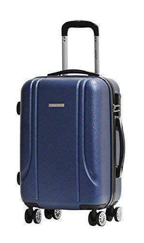 Valigia Formato Cabina -Trolley ALISTAIR Smart - ABS ultra leggero - 4 ruote - Blu