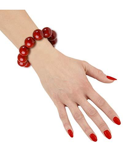 Horror-Shop Bracelet de Perles Rouge