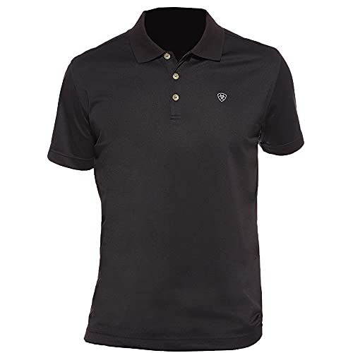 Ariat Men's Tek Polo Shirt, Black, Large