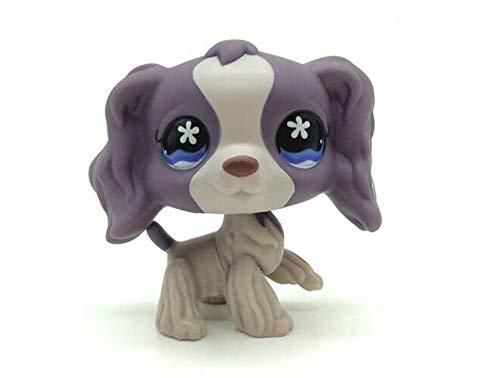 WooMax Littlest Pet Shop LPS Spielzeug Lila Cocker Spaniel Hund welpen Blume Augen Spielzeug # 672 f¨¹r Jungen m?dchen Kinder Geschenk