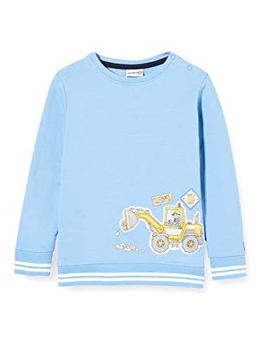 Salt & Pepper Baby-Jungen 05211100 Sweatshirt, Sky Blue, 56