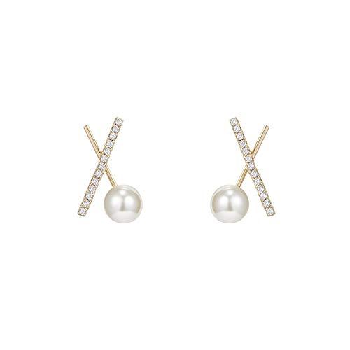 Pendientes de perla pendientes simples de estilo frío pendientes de moda temperamento mujeres