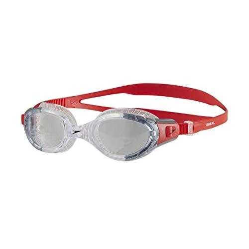 Speedo 811313 Gafas de Natación, Unisex Adulto, Rojo Lava/Transparente, Talla Única