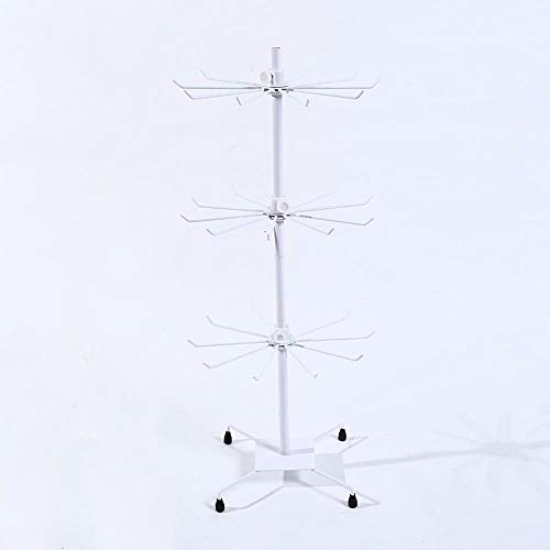 LFDJL Ornament Ornamento de Estante Blanco tricapa Giratorio Rack Mesa móvil carrusel Giratorio Redondo Marco Collar torreta Displ Ay del Estante