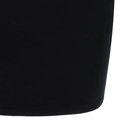 VEMOW Vestido para Mujer Sin Mangas Cuello Redondo, Vestido de Negocios Oficial Estampado Rosa Elegante Vestido Manga Murciélago de Una Línea Plus Size(Negro,3XL)