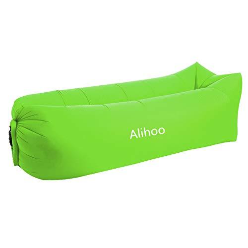 Alihoo Aufblasbare Sofa, Aufblasbare Liege Air Sofa Lounger für Camping im Innen- oder Außenbereich, Strand, Schwimmbäder (Green)