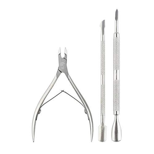 Nail art roestvrijstalen randnagels metalen nagelriemknipper voor het verwijderen van gelnagelsnijder Clipper manicure tool zilver