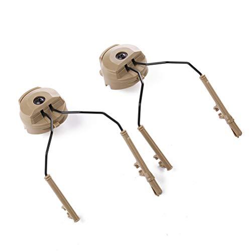 Macabolo 1 Paire de Rails, Adaptateur Arc Rail Adaptor Suspension Casque de Chasse Earmuffs Support de réduction du Bruit pour Casque Peltor Comtac Kaki