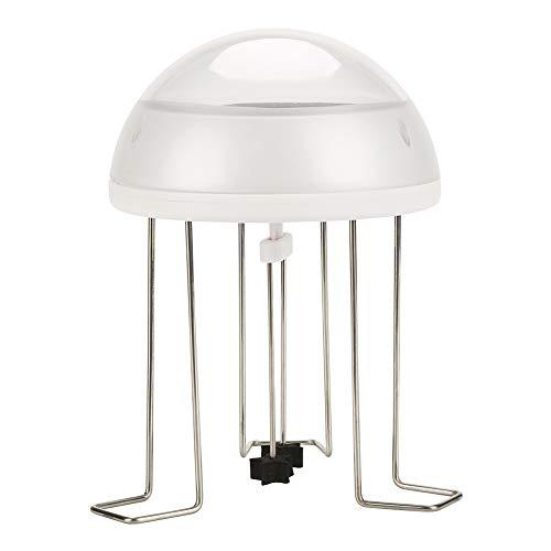 Redxiao Super Quite Design Solarenergie Wasser Wackeln für Vogelbad, Wasser Wackeln für Vogelbad, transparente Schale umweltfreundlich 6,5x7,5 Zoll Rührwerk für Vogelbad Haushalt