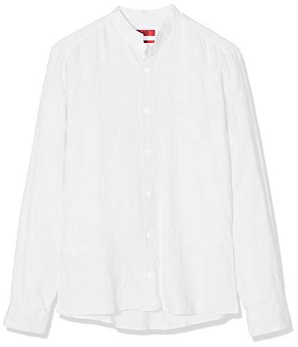 HUGO Herren Elvorini Freizeithemd, Weiß (Open White 199), Medium (Herstellergröße: M)