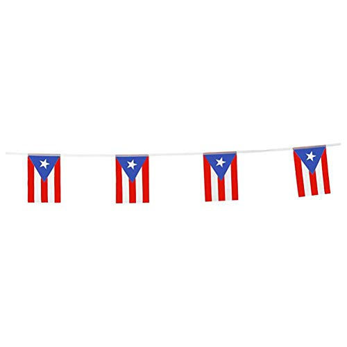 Puerto Rico Flags Puerto Rican Small String Flag Banner Mini National Country World Flags Pennant Banners For Party Events Classroom Garden Olympics Festival Grand Opening Bar Sports Clubs Celebration