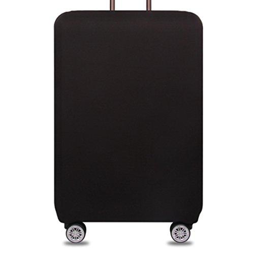 YianBestja Monocromático Elástico Funda Protectora de Maleta Cubierta de Equipaje de Viaje Maleta Funda Protectora Cabe 18-32 Pulgadas Equipaje (Negro, L)