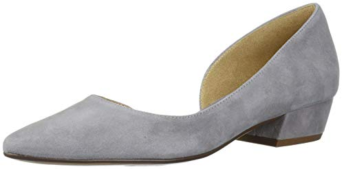 Naturalizer womens Belina Ballet Flat, Grey Suede, 9.5 US