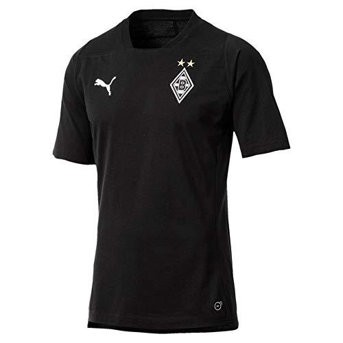 PUMA Borussia Mönchengladbach Casuals T-Shirt Herren schwarz/weiß, L - 52/54