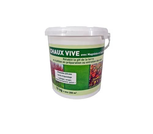 Start Chaux vive granulés VN 92 en seau de 10 kg 10kg CVS10