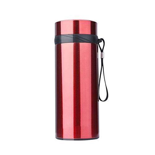 Taza Termo de Viaje para Hombres y Mujeres Taza 304 de Alta Capacidad Filtro Taza de té Taza portátil de Acero Inoxidable Taza de café Taza portátil de Viaje para el hogar al Aire