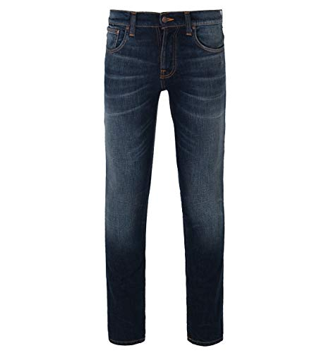 Nudie Jeans Unisex-Erwachsene Grim Tim Jeans, Dark Dreams, 32W x 30L