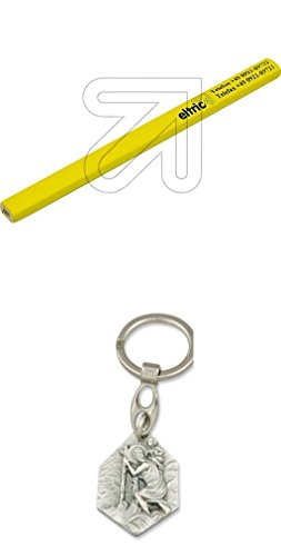 Eltric 12er Pack Zimmermann-Bleistift 175mm mit Anhänger Hlg. Christophorus