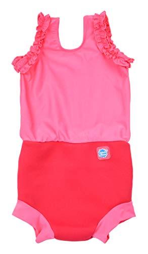 Splash About Mädchen Happy Nappy Kostuem Pink Geranium 0-4 Monate