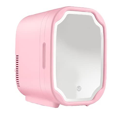 Réfrigérateur Maquillage8L,portable Miroir à Maquillage LED silencieux Glacière Électrique Cosmétiques la peau beauté chambre à coucher Réfrigérateur de soins a