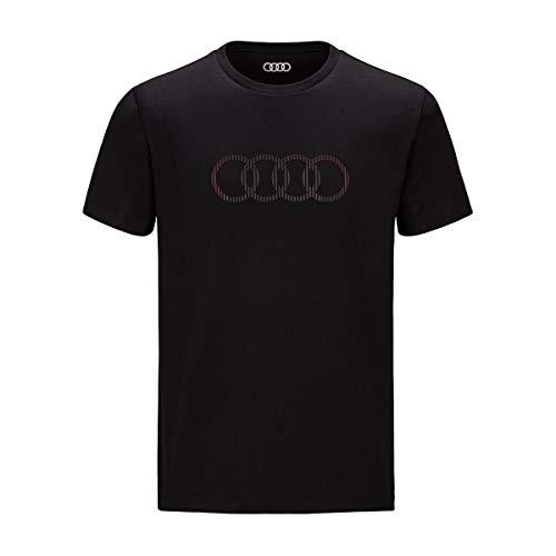Audi T-Shirt Ringe Herren (XXL)