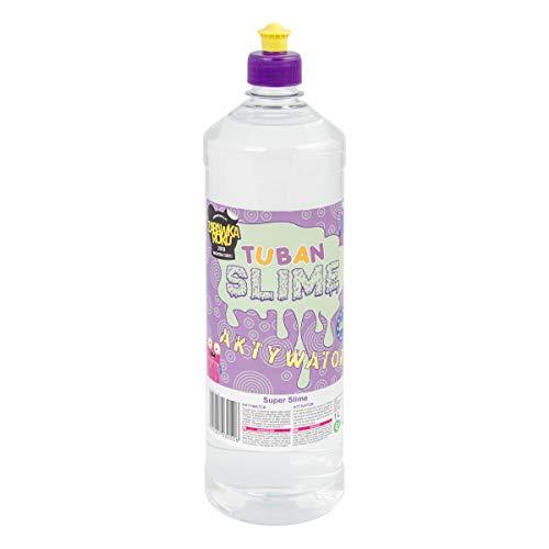 Tuban Activador de Slime - Solución Líquida-Recarga Maxi 1 LITRO - Activador Funciona con PVA y Cola Activador para Slime