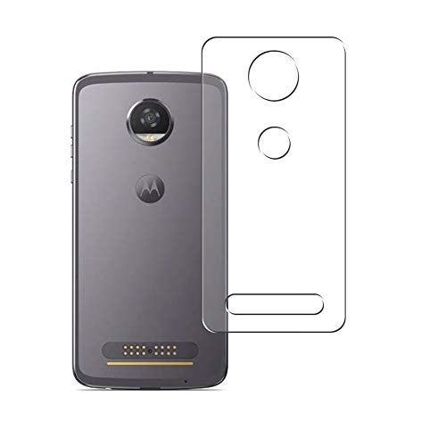 Vaxson 2 Stück Rückseite Schutzfolie, kompatibel mit Motorola Moto Z2 Play, Backcover Skin TPU Folie [nicht Panzerglas/nicht Front Displayschutzfolie]