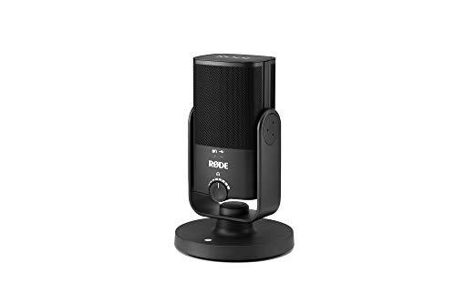 Rode Microphones NT-USB Mini - Micrófono con conexión USB-C, salida de auriculares 3.5 mm, Negro