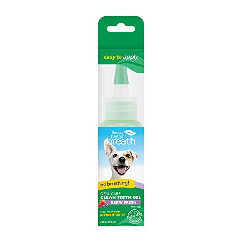 Fresh Breath by TropiClean No Brushing Berry Clean Teeth Dental amp Oral Care Gel for Dogs 2oz Made in USA