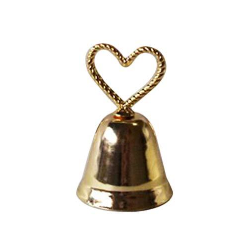 vkospy Mariage Siège Carte Pince Coeur Baisers de Bell Chanceux Porte-Cartes de siège de Serrage Numéro de Table Titulaire