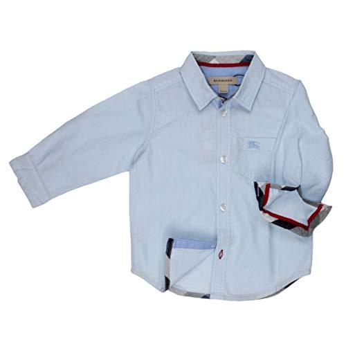 BURBERRY Hemd kleinkariert - hellblau, Größe:8 Jahre / 128